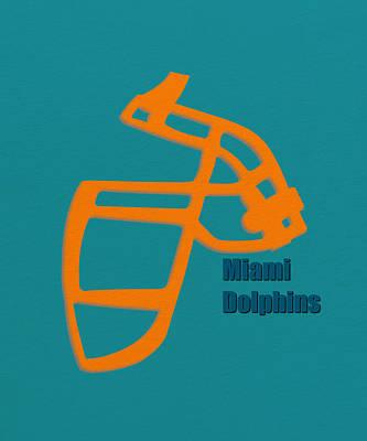 Miami Dolphins Retro Print by Joe Hamilton