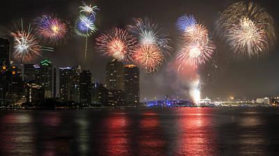 Photograph - Miami Fireworks by Lynn Palmer