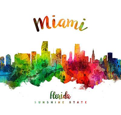 Florida Digital Art - Miami Florida 24 by Aged Pixel