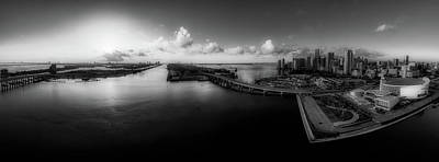 Photograph - Miami Florida At Dusk by Ralph Nas