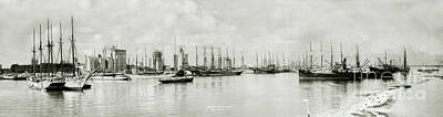 Miami Skyline Photograph - Miami, Florida Circa 1925  by Jon Neidert