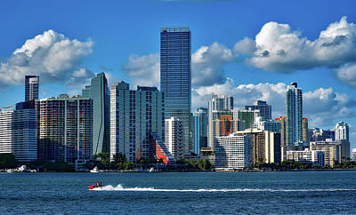 Miami Florida Art Print by Daniel Christensen