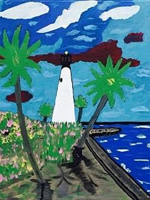 Painting - Miami Florida Original Acrylic Painting On Canvas by Jonathon Hansen