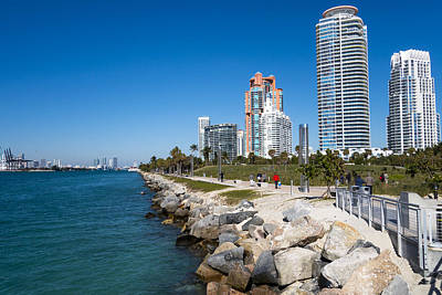 Photograph - Miami Florida Skyline Miami Beach by Toby McGuire