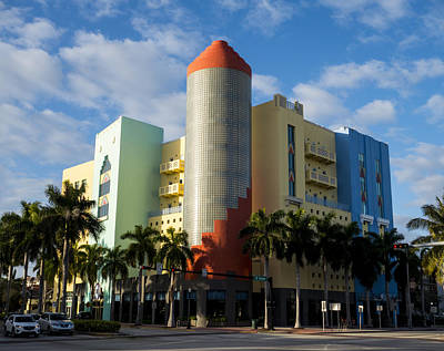 Photograph - Miami Florida South Beach Fifth Avenue Art Deco by Toby McGuire