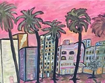 Financial Services Painting - Miami Florida Sunrise by Jonathon Hansen