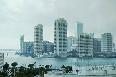 Building Photograph - Miami, Florida, Usa Downtown Skyline by Dani Prints and Images