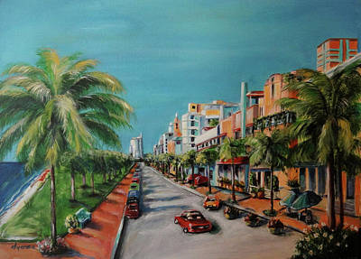 Miami Beach Painting - Miami For Daisy by Dyanne Parker