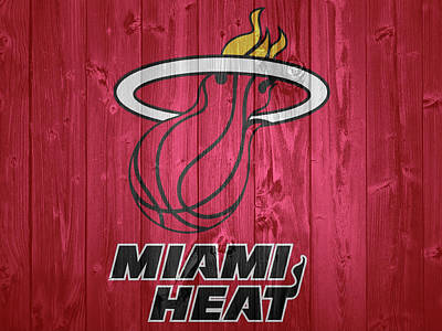 Athletes Royalty-Free and Rights-Managed Images - Miami Heat Barn Door by Dan Sproul