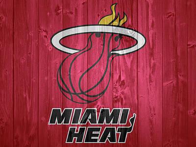 Athletes Photos - Miami Heat Barn Door by Dan Sproul
