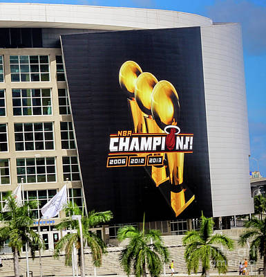 Photograph - Miami Heat Nba Champions 2006-2012-20133 by Rene Triay Photography