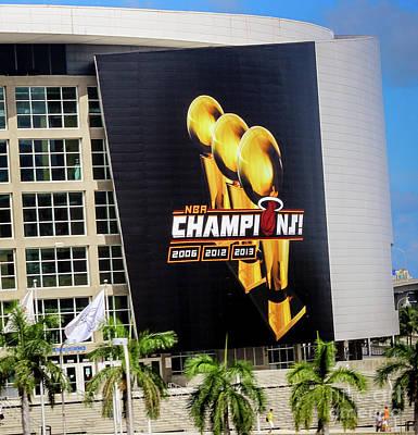 Photograph - Miami Heat Nba Champions 2006-2012-20133 by Rene Triay Photography