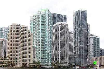 Photograph - Miami Highrises by Art Block Collections