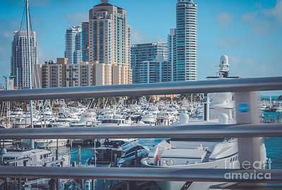 Miami Marina Print by Claudia M Photography