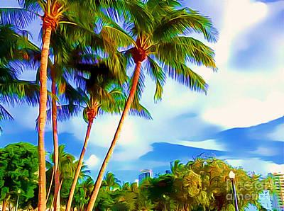 Miami Maurice Gibb Memorial Park Art Print