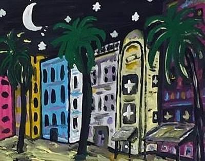 Financial Services Painting - Miami Nightlife. by Jonathon Hansen