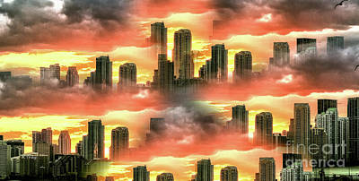 Photograph - Miami Abstract And On Fire by Rene Triay Photography