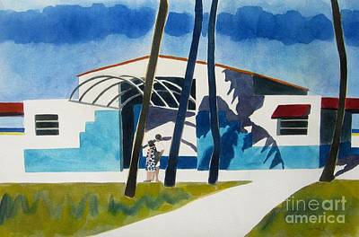 Tresses Painting - Miami Palms by Lesley Giles