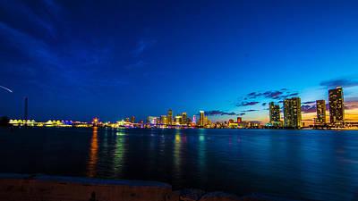 Sea Photograph - Cityscape - Miami Panorama By Darrell Hutto by J Darrell Hutto