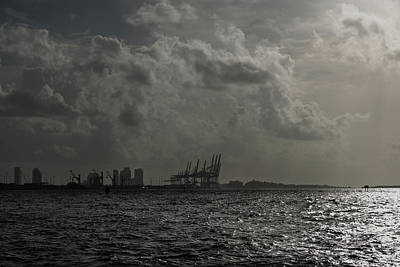 Photograph - Miami Port At Daybreak by Steven Richman