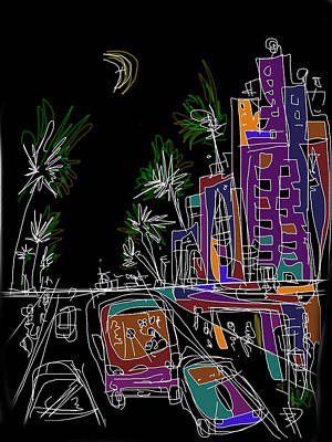 Miami Art Print by Russell Pierce