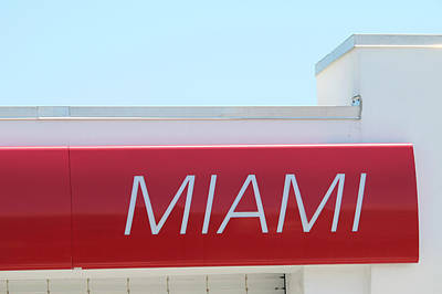 Photograph - Miami Sign by Art Block Collections