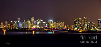 Photograph - Miami Skyline At Dusk by Rene Triay Photography