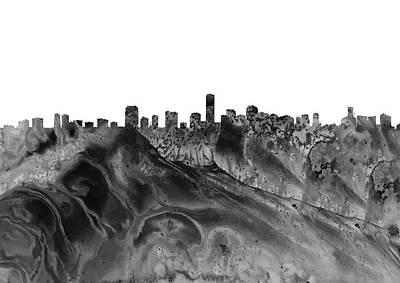 Miami Skyline Digital Art -  Miami Skyline by Erzebet S