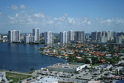 Photograph - Miami Skyline by Mary Lou Chmura