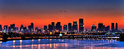 Samdobrow Photograph - Miami Skyline by  Samdobrow  Photography