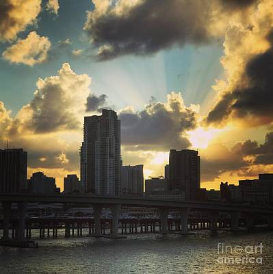 Photograph - Miami  Skyline by Suzanne Lorenz