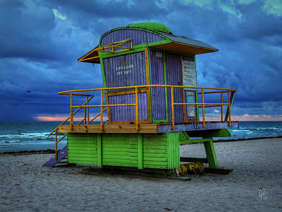 Miami - South Beach Lifeguard Stand 004 Art Print