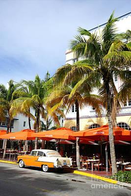Miami South Beach Ocean Drive 8 Art Print by Nina Prommer