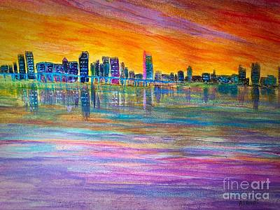 Painting - Miami Sunset by Anne Sands