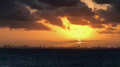Photograph - Miami Sunset by Arthur Dodd