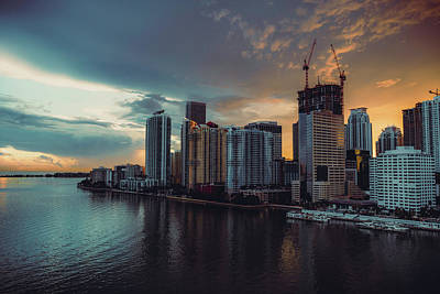 Photograph - Miami Sunset by Nisah Cheatham