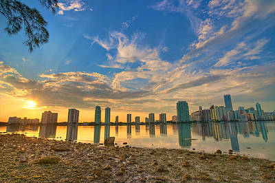 Miami Sunset Art Print by William Wetmore
