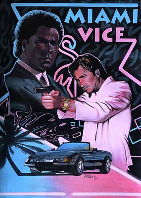 Miami Vice Painting - Miami Vice by Anton Atanasov Art