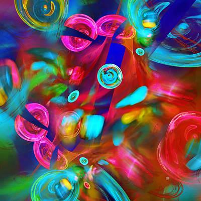 Digital Art - Miami Vice Fractal Interpretation by Menega Sabidussi