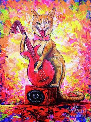 Painting - Miaow by Viktor Lazarev