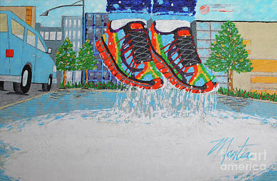 Painting - Mia's Water Sport by Art Mantia