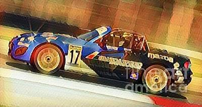Drag Racing Mixed Media - Mx-5 Miata Supreme by Douglas Sacha