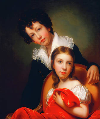 Painting - Michael Angelo And Emma Clara Peale by Rembrandt