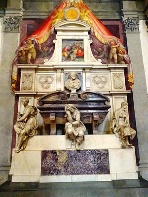 Photograph - Michael Angelo's Tomb by Alan Lakin