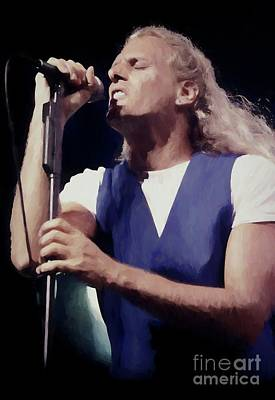 Photograph - Michael Bolton Oil Painting Enlargements by Concert Photos