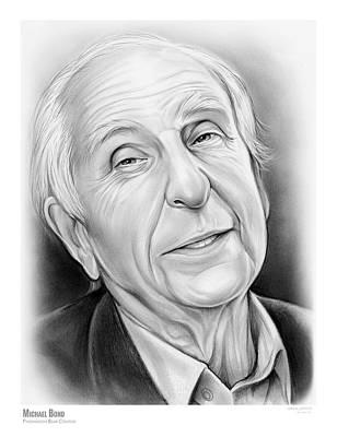 Author Drawing - Michael Bond by Greg Joens