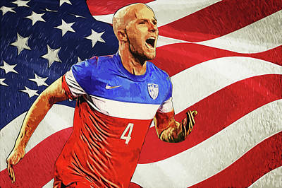 Athletes Royalty-Free and Rights-Managed Images - Michael Bradley by Zapista