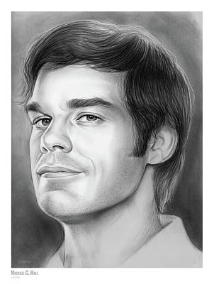 Drawing - Michael C Hall by Greg Joens