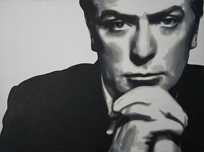Caine Painting - Michael Caine 2013 by Luis Ludzska