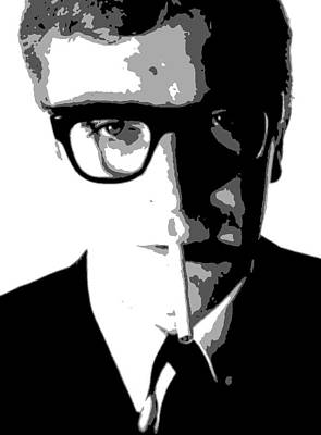 Caine Painting - Michael Caine by Dan Carman